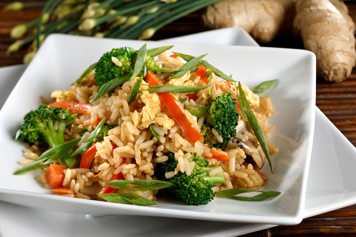 Brown rice is the healthiest of the lot.