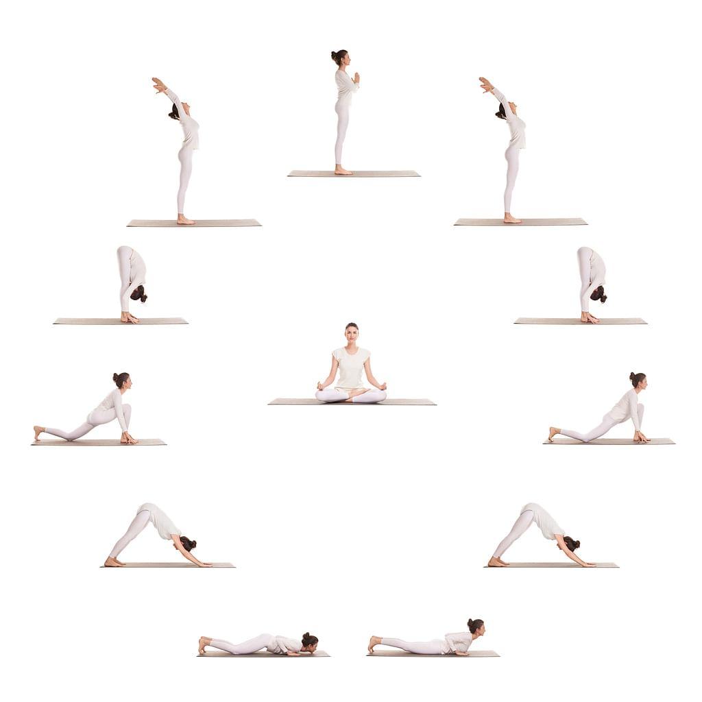 Постер йога асаны