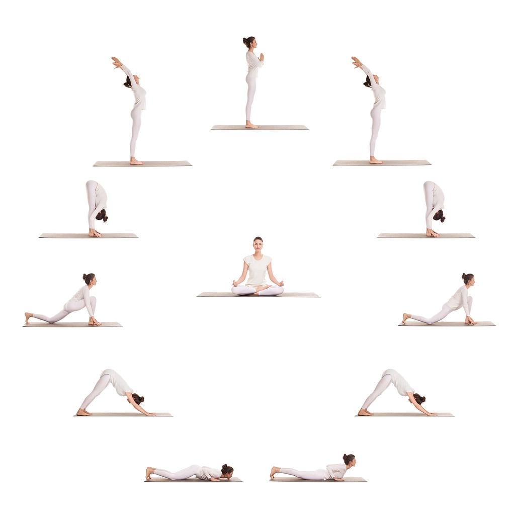 Surya Namaskars when done at a slow to medium pace are a great way to prepare your system for the workout ahead.