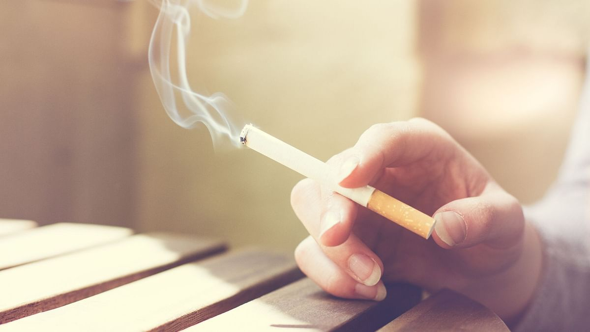 Nicotine in cigarettes is harmful for the bones.
