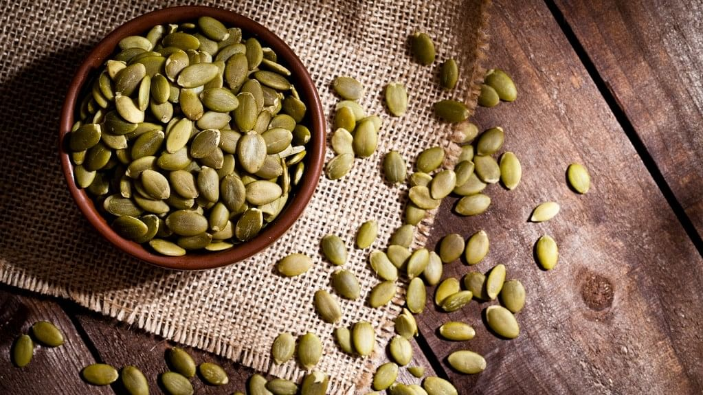 Pumpkin seeds are packed with magnesium, which helps one relax by regulating blood pressure.