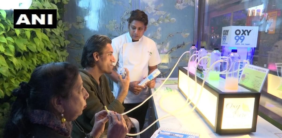 A bar in Saket called 'Oxy Pure', is providing clean oxygen to the customers in seven different aromas.