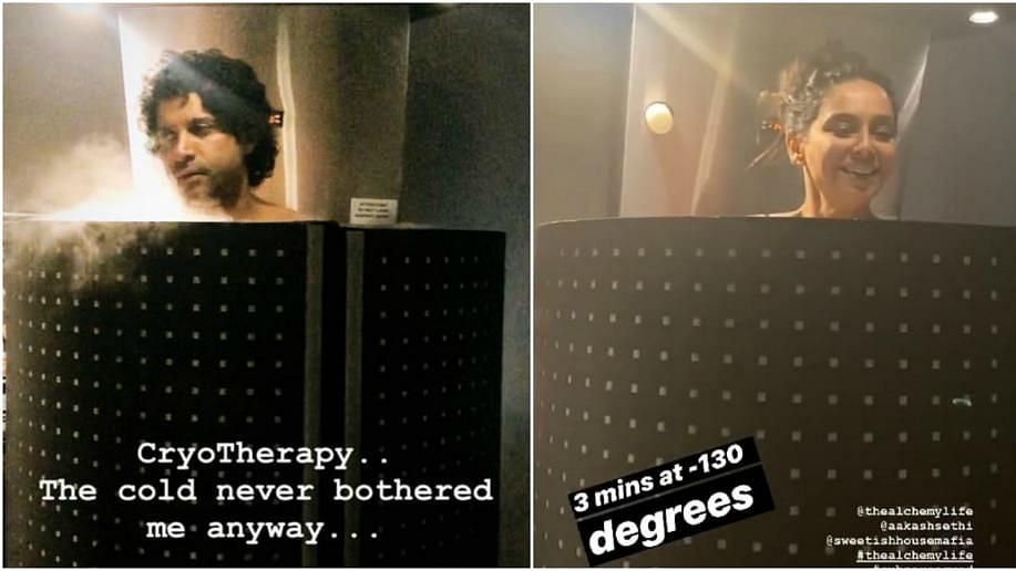 Cryotherapy session of Farhan and Shibani