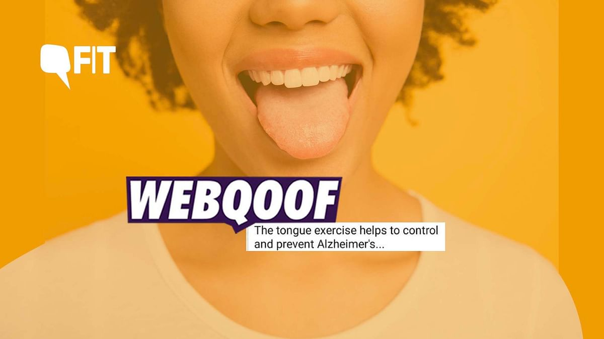 WebQoof: Can Doing This Tongue Exercise Help Prevent Alzheimer's?