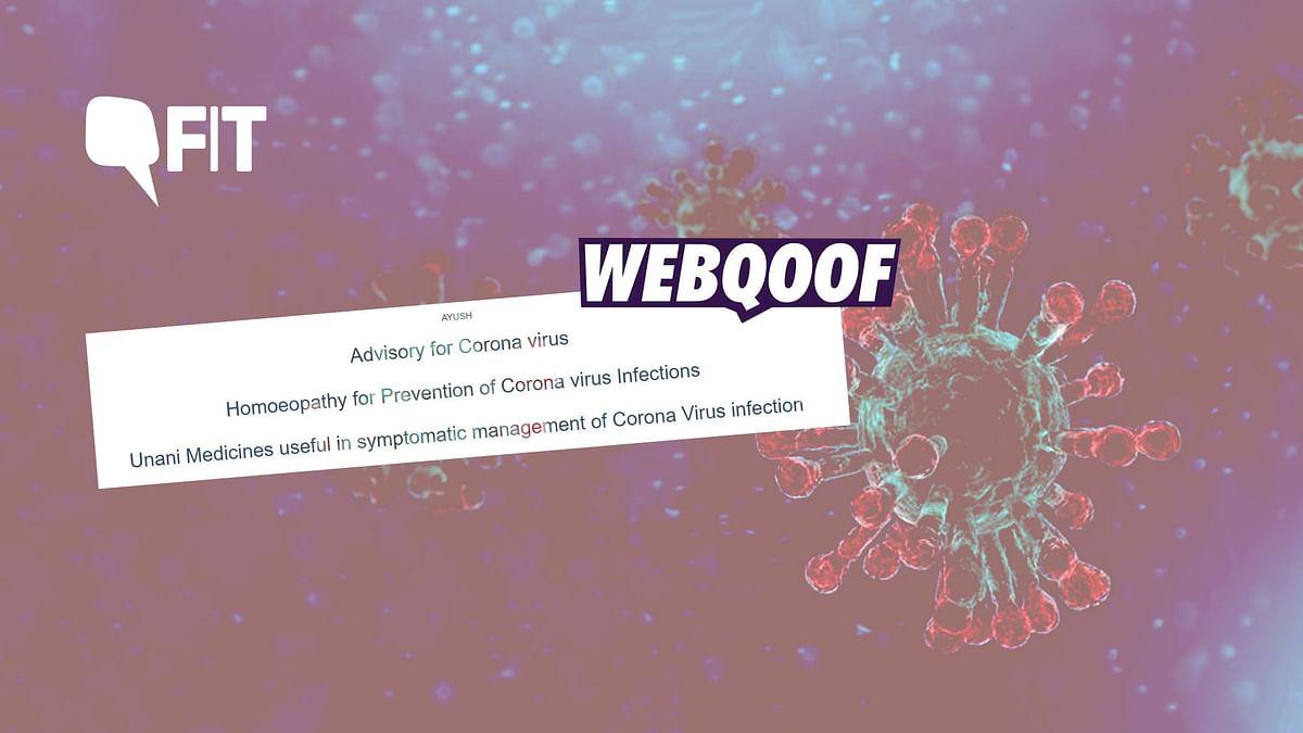 FIT-WebQoof: Can Arsenicum Album 30 Cure Coronavirus?