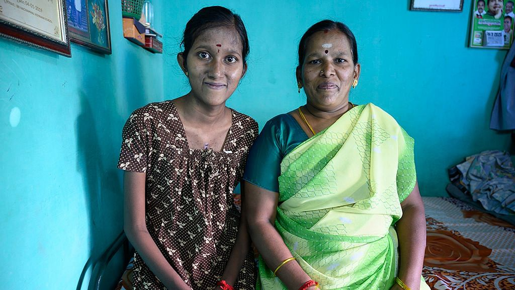 Mythili with her mother.