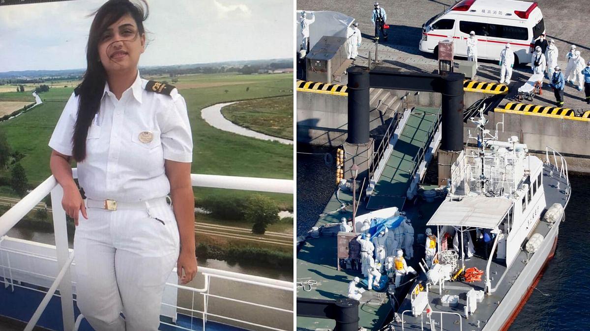 Sonali Thakkar is a security patrol woman onboard the Diamond Princess cruise ship.
