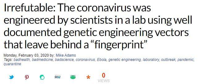 FIT WebQoof: Did China Create the Wuhan Coronavirus in Its Lab?