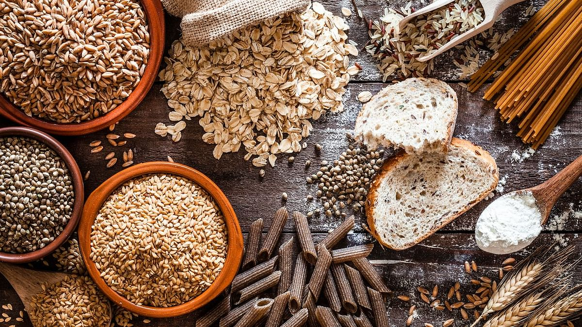 Healthy diet including cereals.