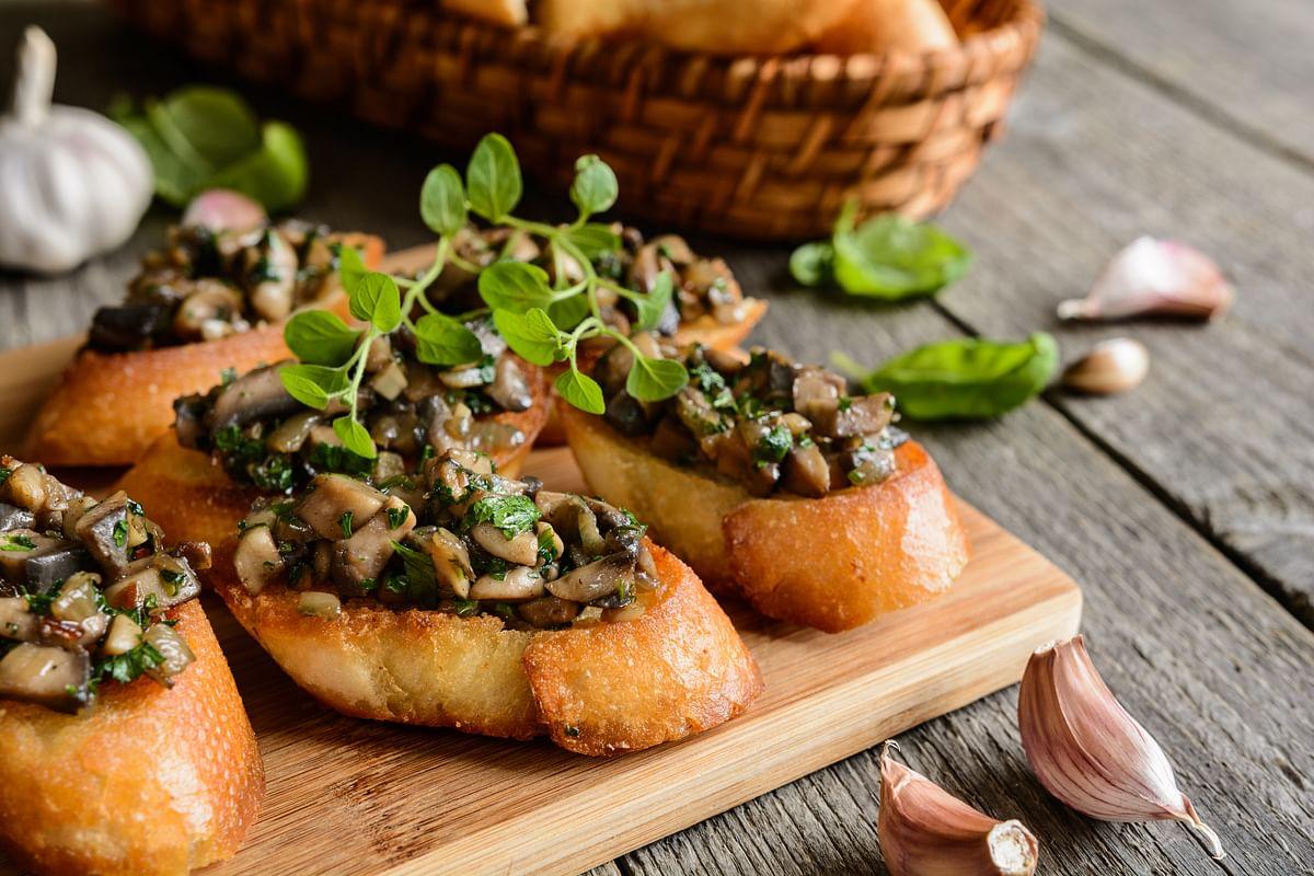 Mushroom on Sourdough.