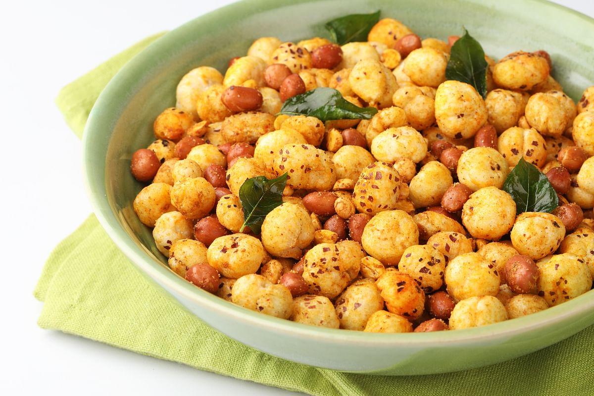 Makhana is a healthy snack.