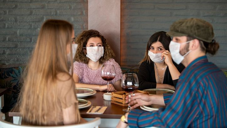 People dining at a restaurant are at a higher risk than those engaging in some other community activities.