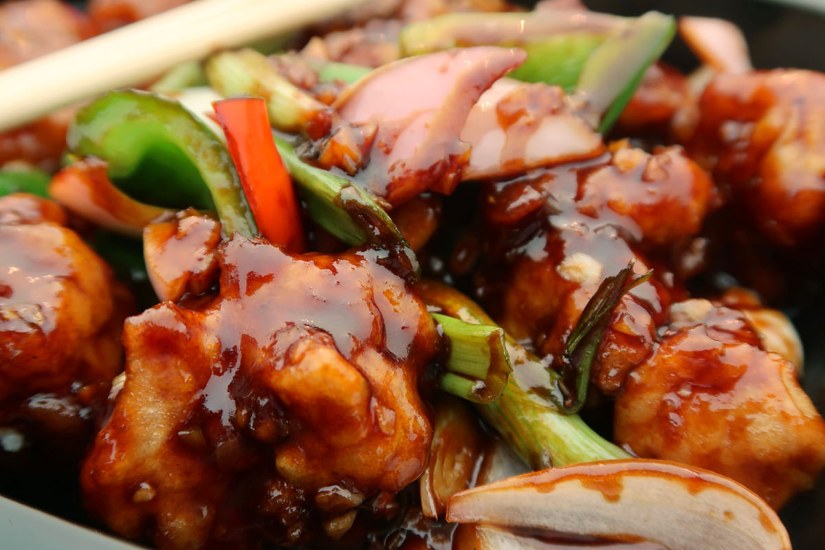 Chinese chicken and mushrooms