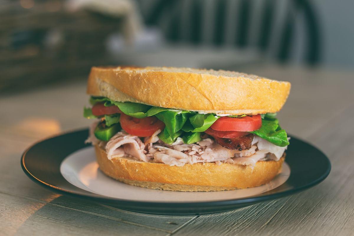 A Healthy Salmon Sandwich