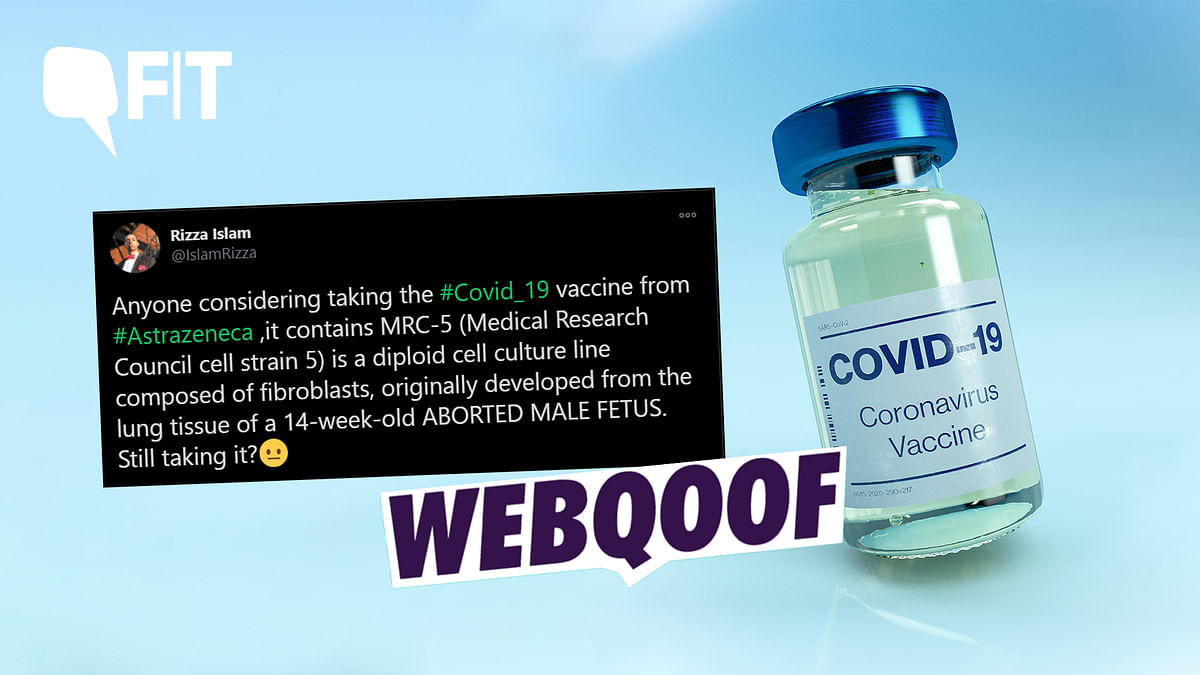 """It is inaccurate to claim that the Oxford AstraZeneca vaccine """"contains"""" aborted foetal tissue."""