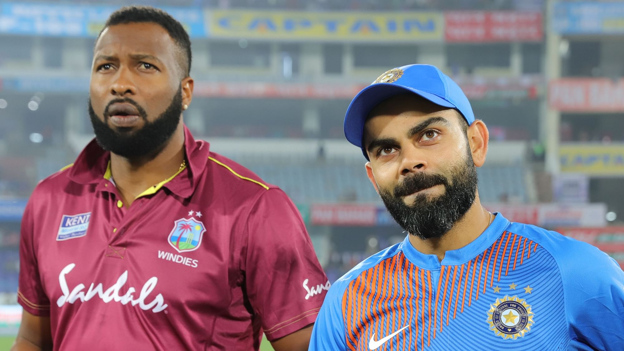 2nd T20I: West Indies Win the Toss, Put India to Bat