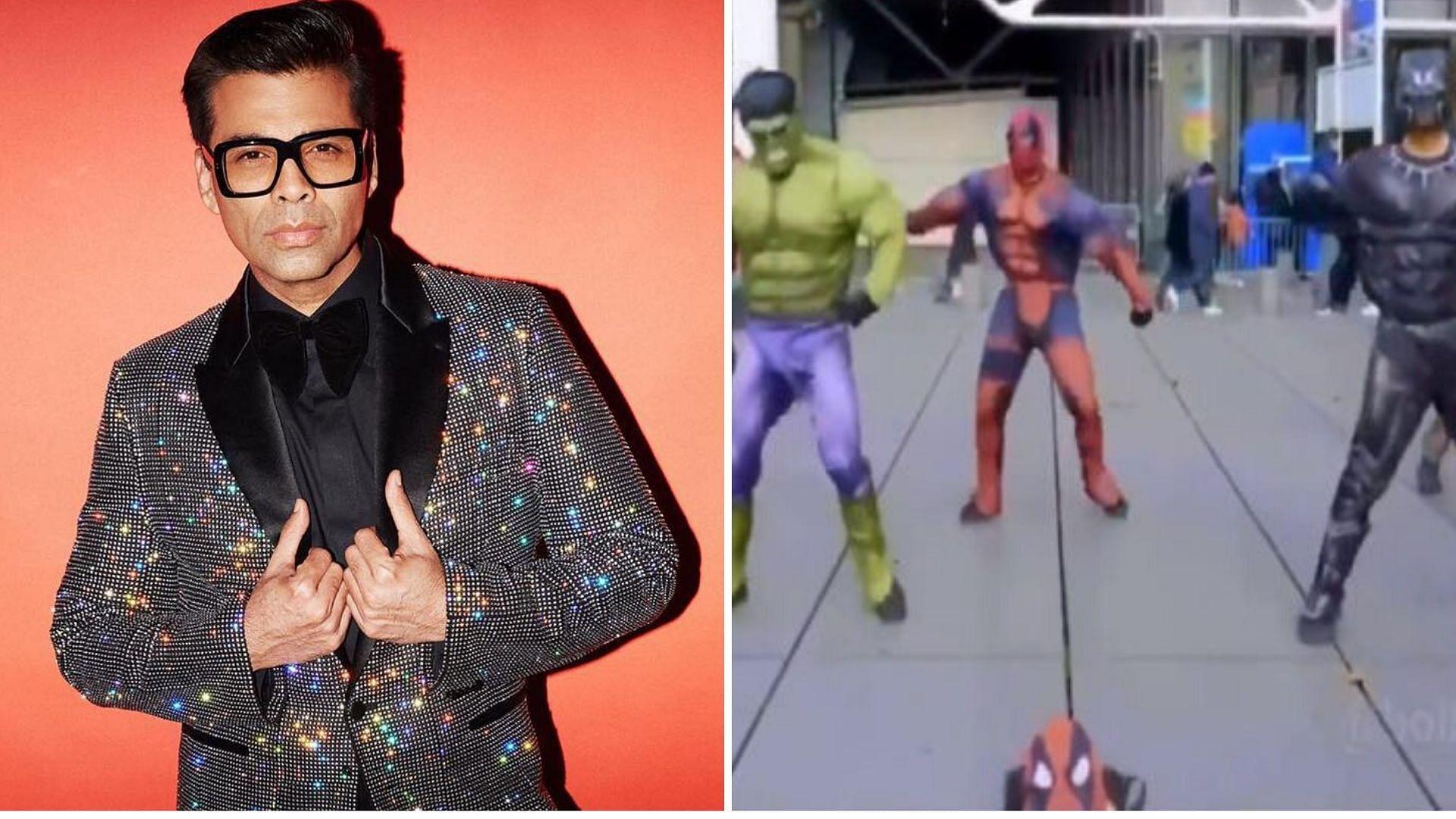 KJo, Sidharth React to 'If Karan Johar Made Avengers' Video