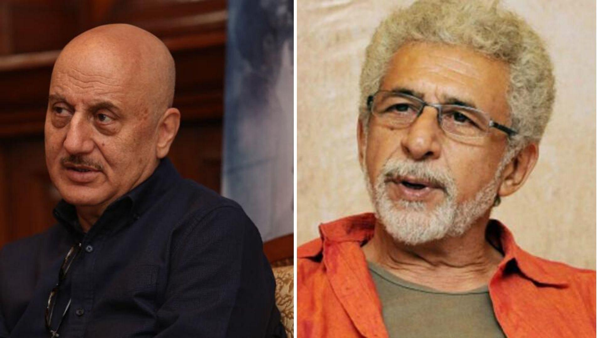 Anupam Kher Reacts to Naseeruddin Shah Calling Him a 'Clown'