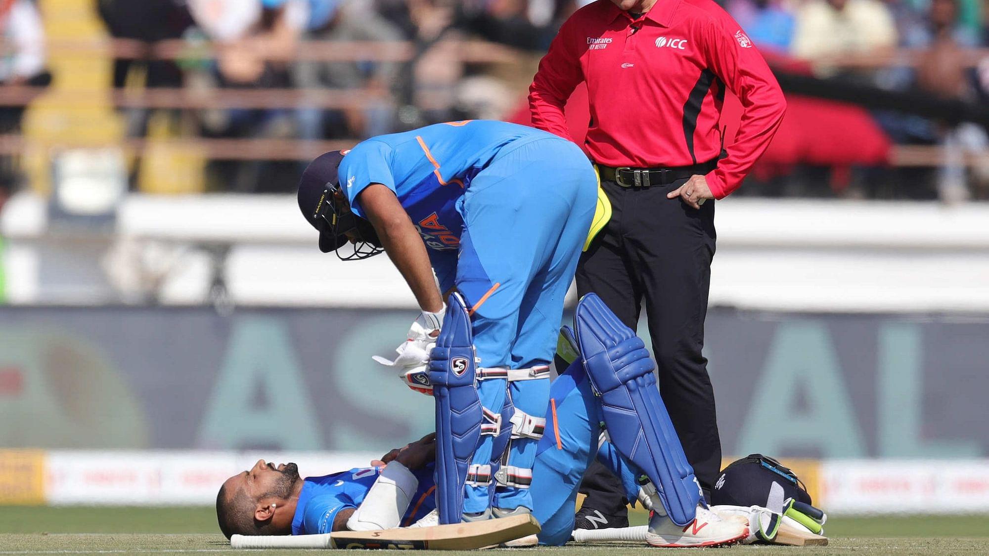 Dhawan Expected to Play 3rd ODI vs Australia Despite Injury Scare