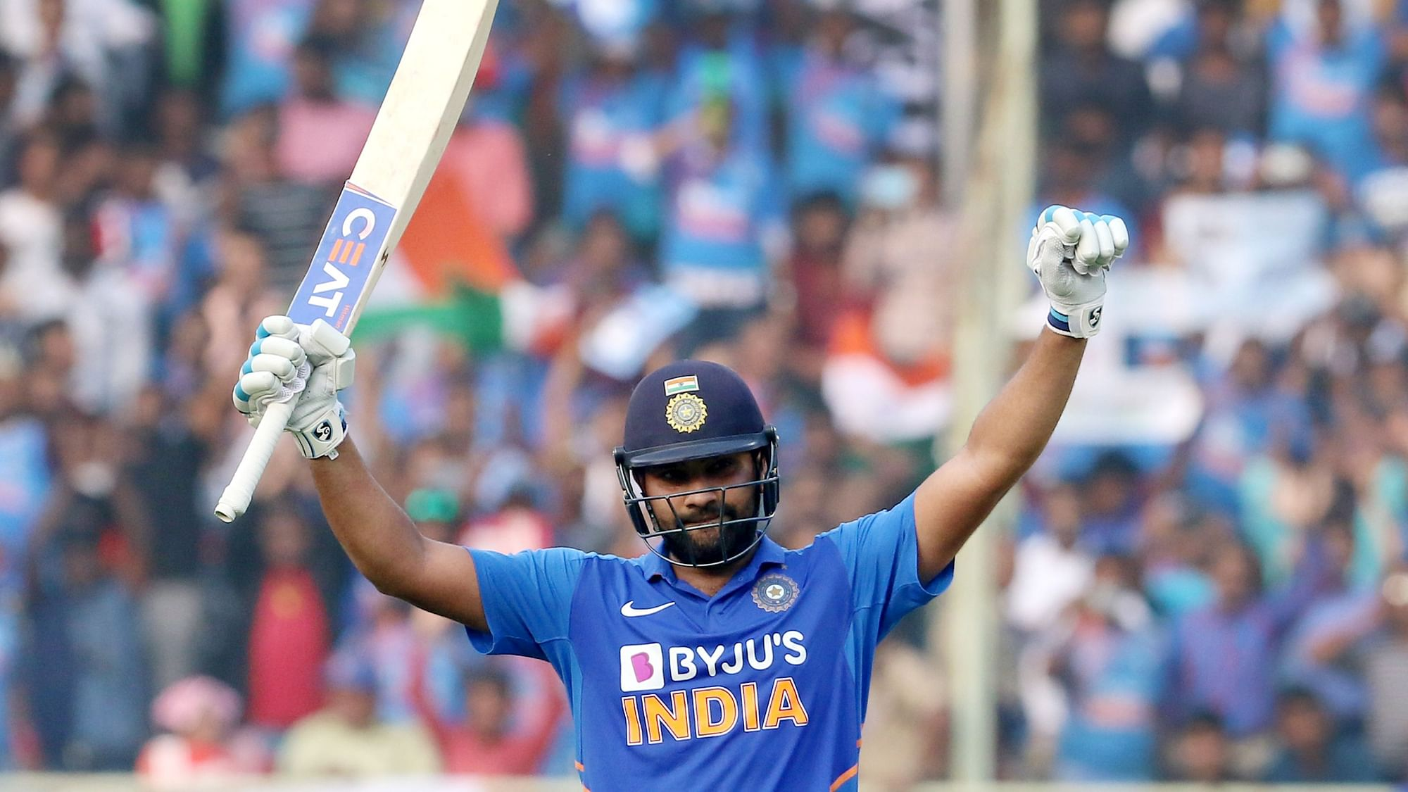 Stats: Rohit's 1st Double Century Came at Venue of Ind-Aus 3rd ODI