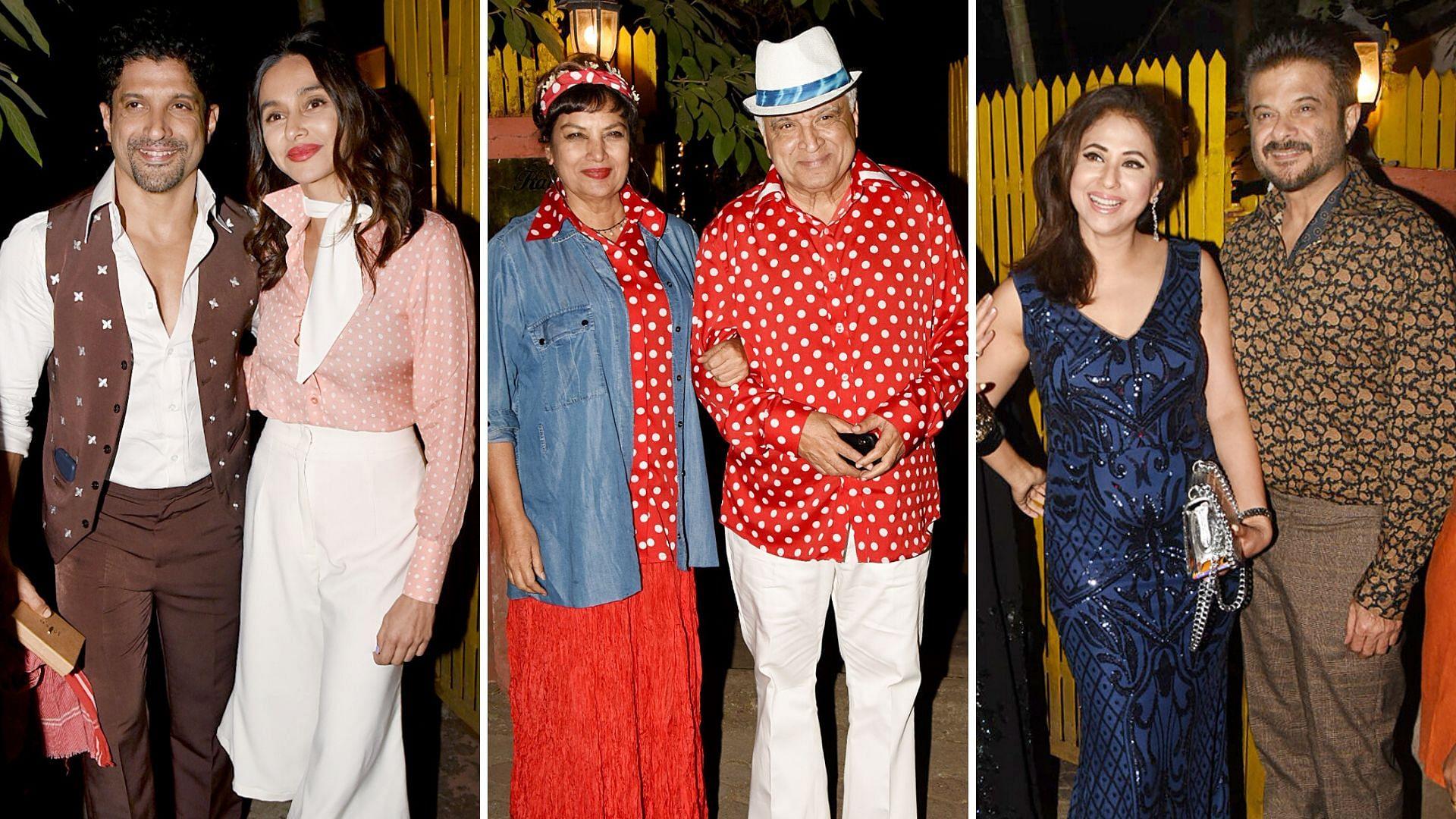 Pics: Shabana Azmi, Farhan, Anil Go Retro for Javed Akhtar's B'Day