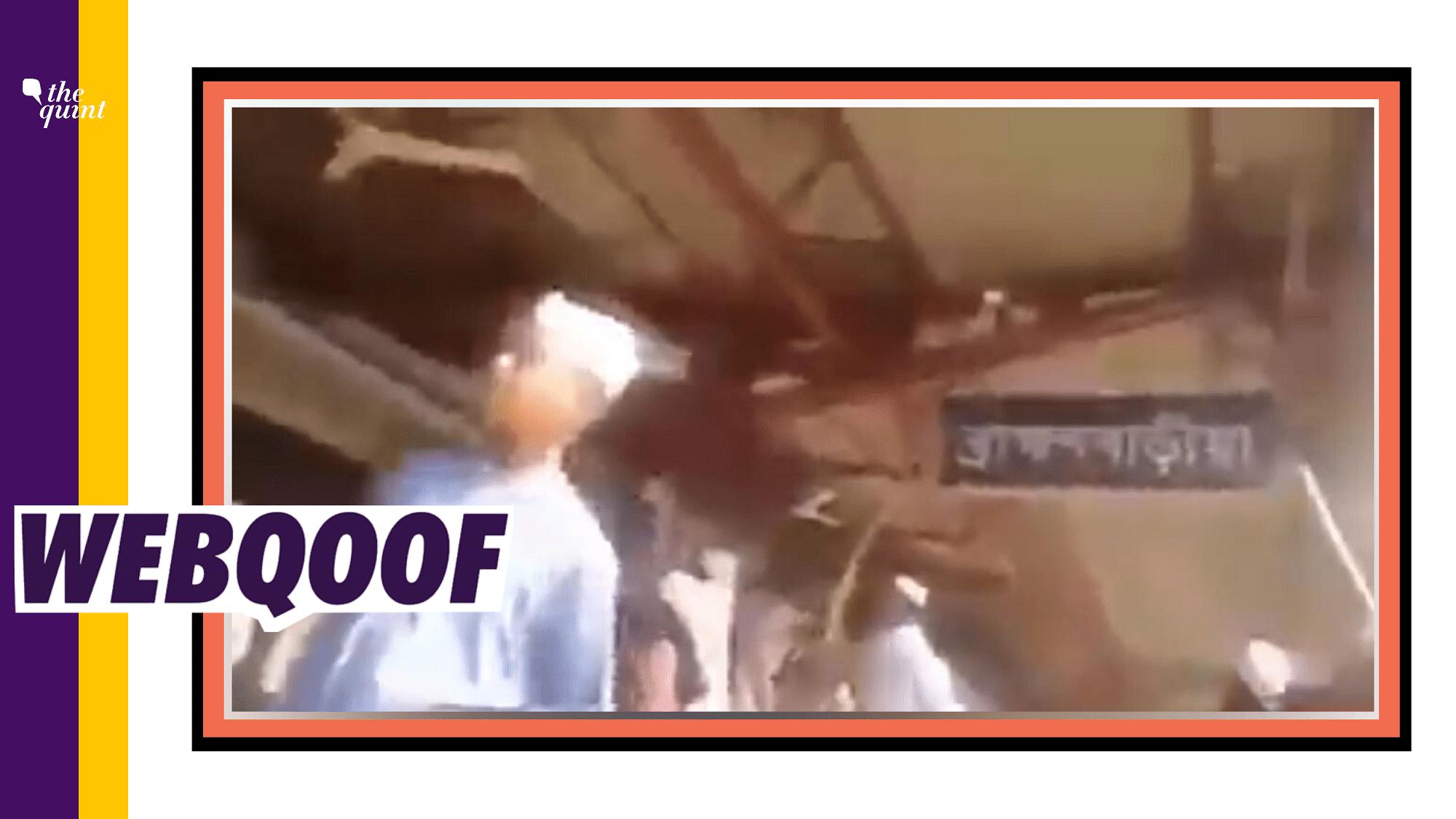Bangladeshi Refugees Ransacking a Kolkata Station? Fake Alert