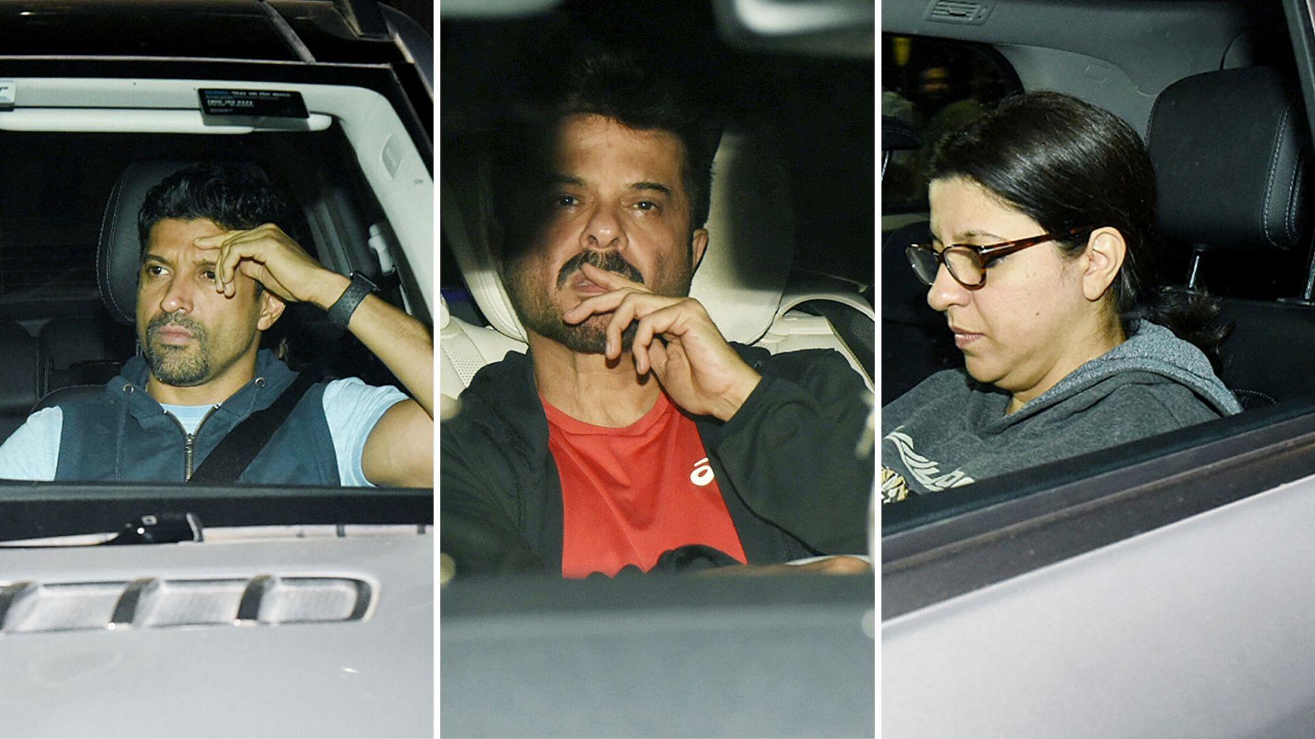 Pics: Farhan, Zoya, Anil Kapoor Visit Shabana Azmi in Hospital