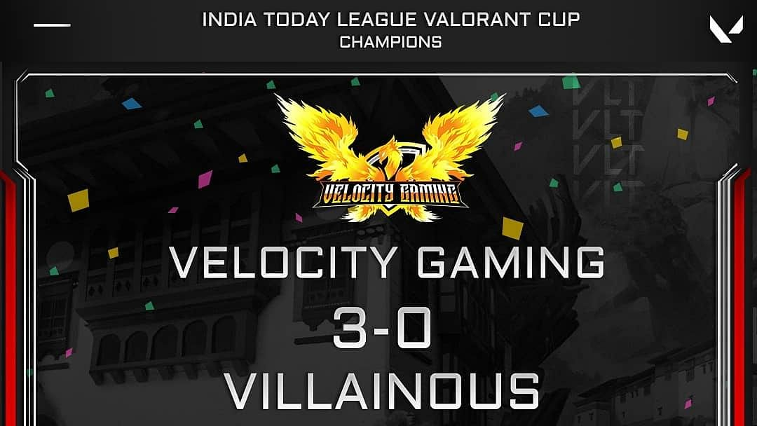 Velocity Gaming won the India Today League Valorant Cup