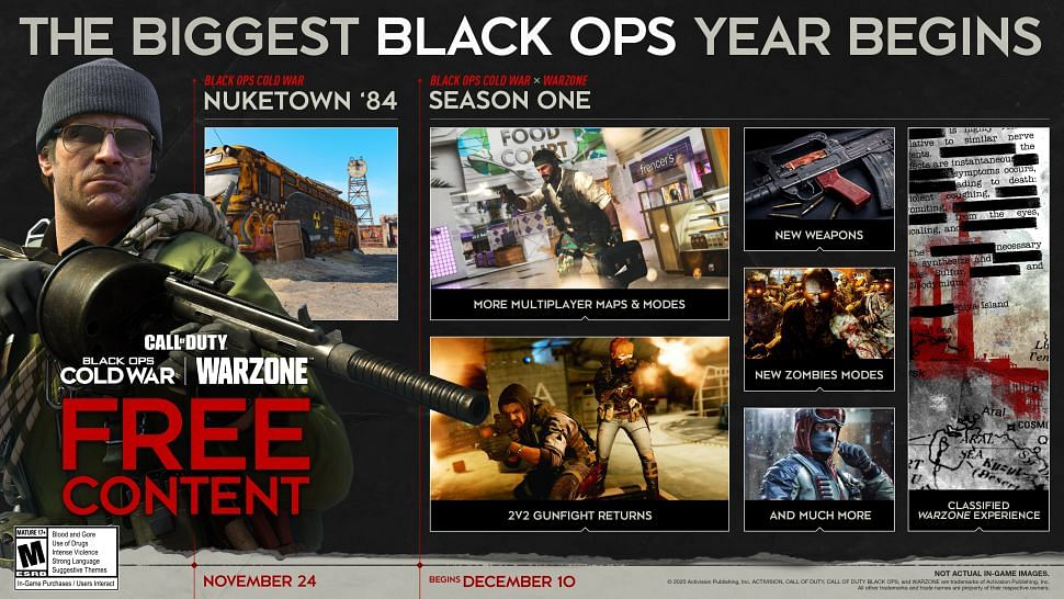 Call of Duty Black Ops Cold War Season 1 roadmap revealed