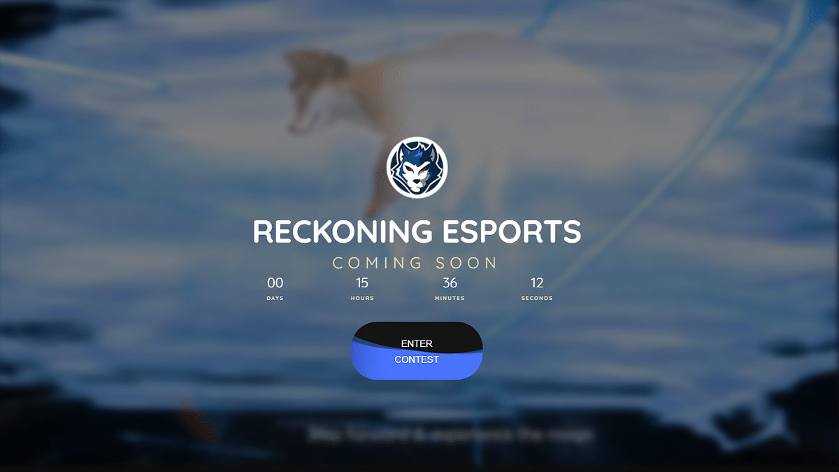 Reckoning Esports is all set to launch its new website
