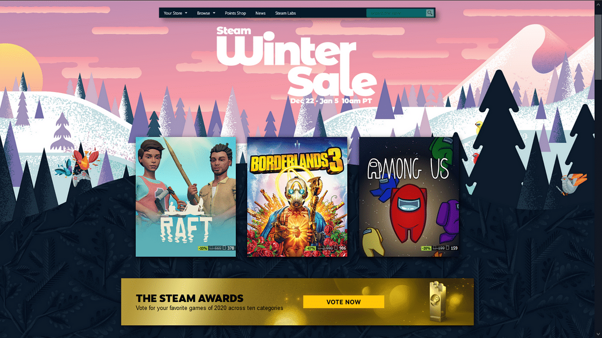 Steam Winter Sale 2020 offers great deals on thousands of games