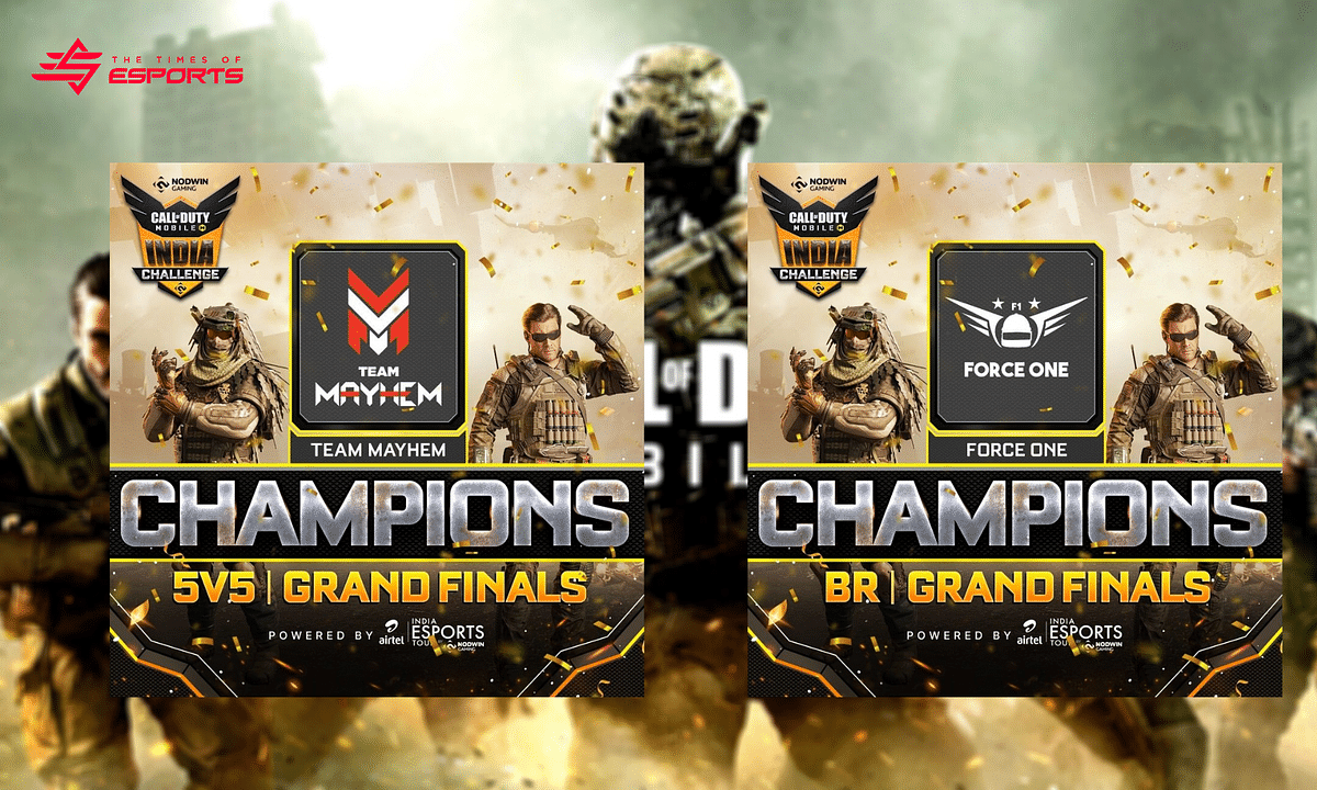 Team Mayhem and Force One emerge victorious at the Call of Duty: Mobile India Challenge