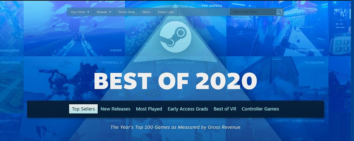 Here are all the top games on Steam in 2020