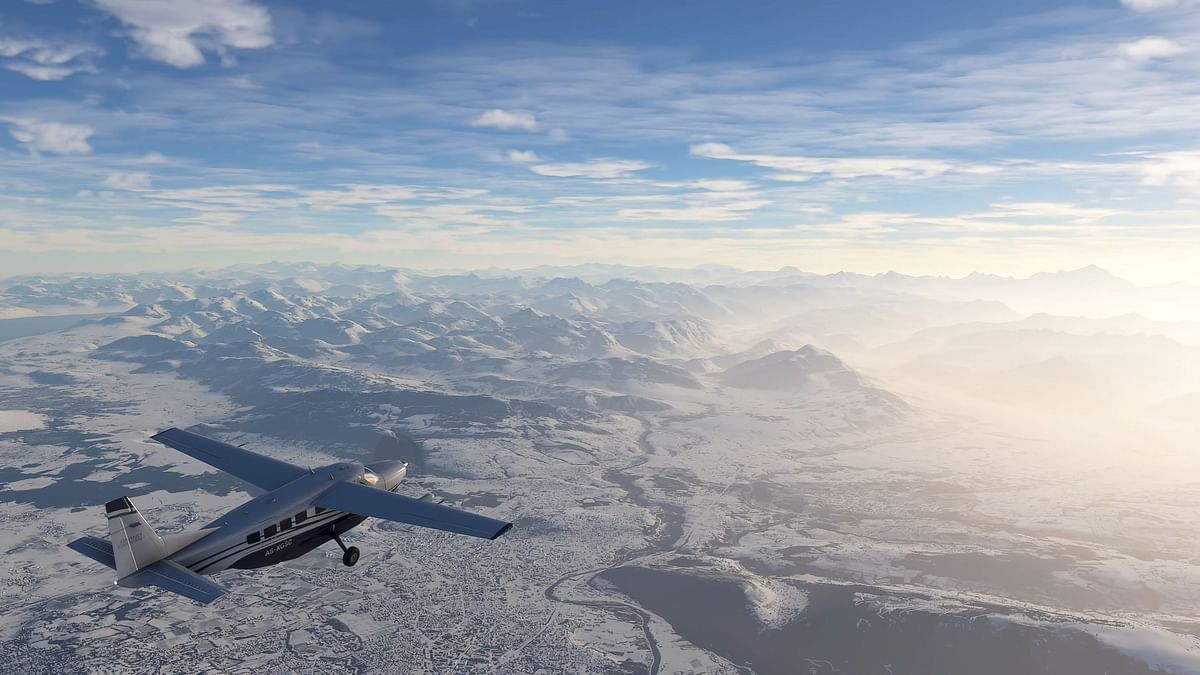 Microsoft Flight Simulator gets real time snowfall in new update