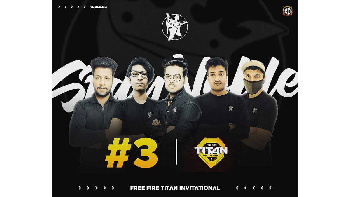 Free Fire Titan Invitational: Noble Esports Free Fire roster bags third place at their debut