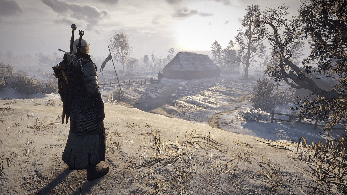 New Witcher 3 mod allows Geralt of Rivea to snowboard down snowy mountains