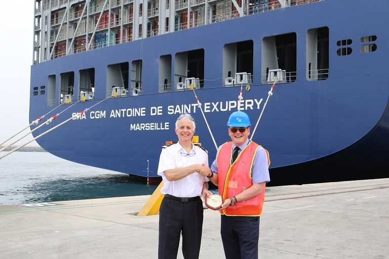 KCT Welcomes One of the Largest Containerships in the World
