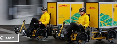 "DHL running ""Cubicycle"" pilot in the  UAE"
