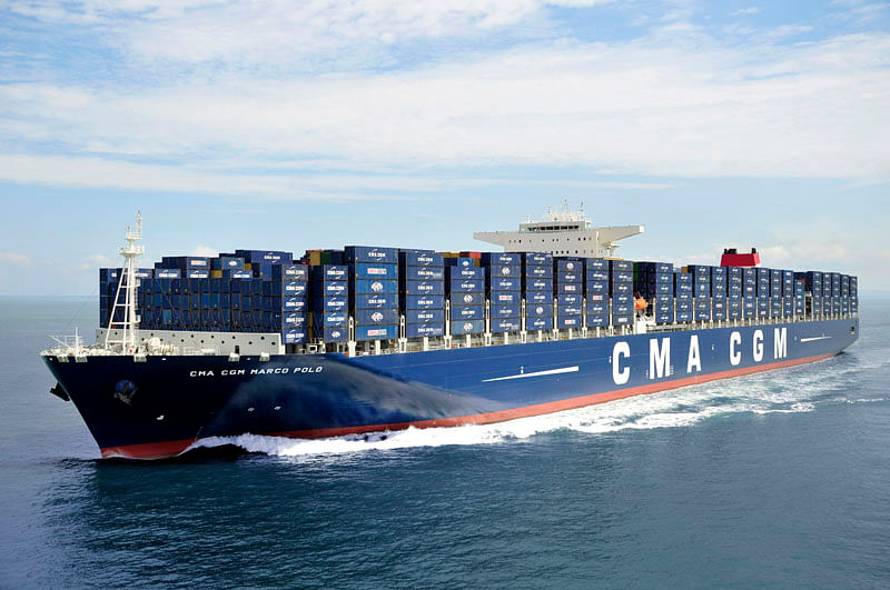 Vessels such as the 16,000 TEU CMA CGM Marco Polo could be set to benefit from AI technology
