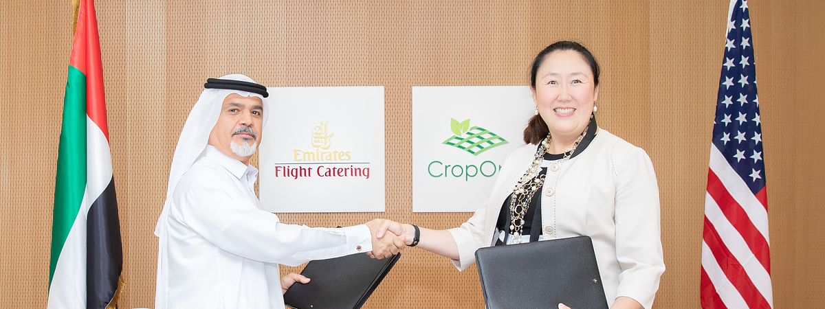 Saeed Mohammed, Chief Executive Officer of Emirates Flight Catering, Dubai, United Arab Emirates, and Sonia Lo, Chief Executive Officer of Crop One Holdings