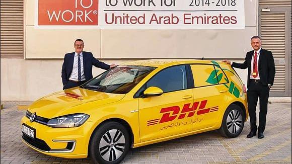 DHL Bring E-Cars to Dubai