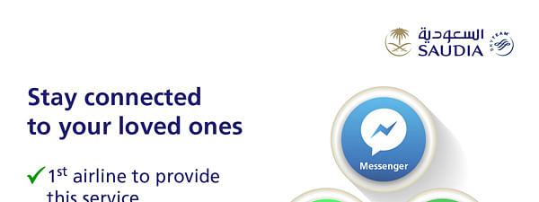 SAUDIA Introduces Free 'Social Messaging'