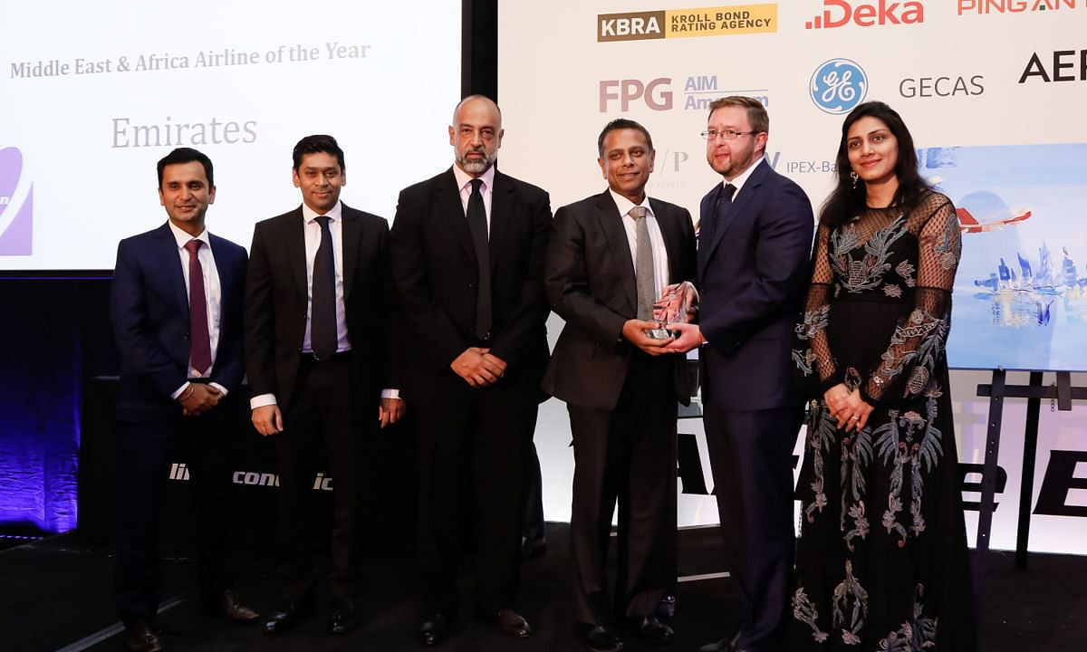 Emirates Scoops M.E. Airline of the Year