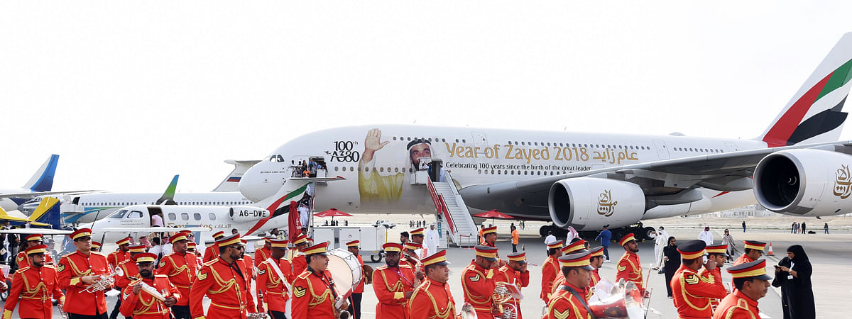 Emirates A380 Stars at Bahrain Airshow