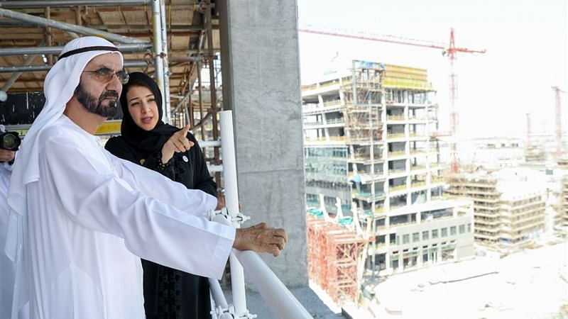 Sheikh Mohammed Inspects Expo 2020 Site