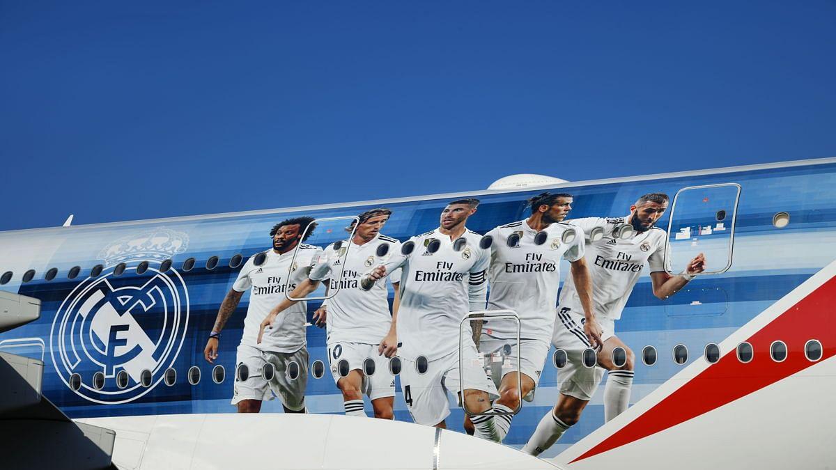 Emirates Unveils Special Real Madrid Plane