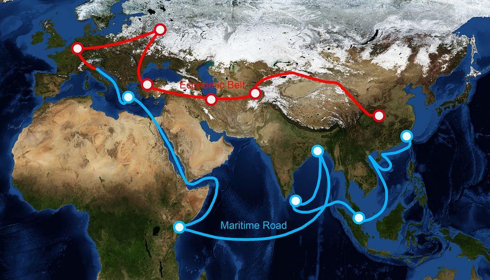 China's BRI route(s)