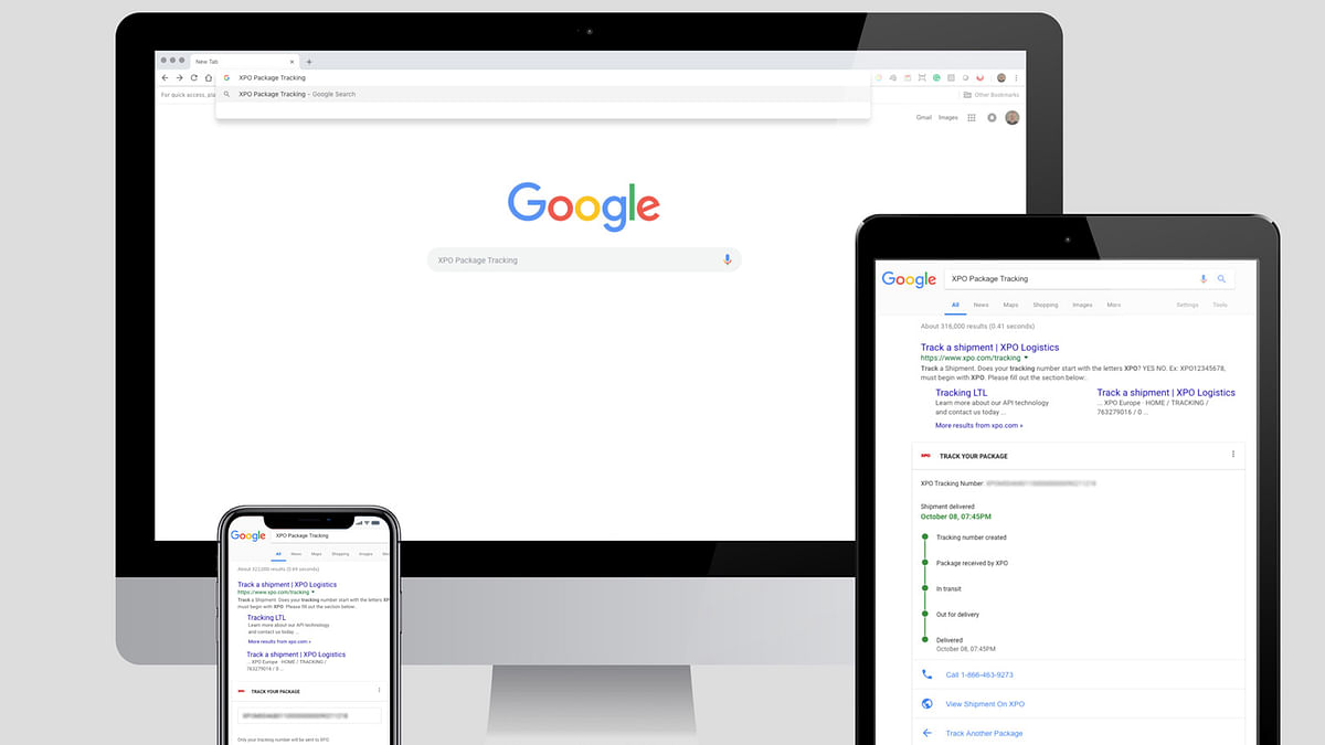 XPO Logistics' Last Mile Tracking Now With Google Search