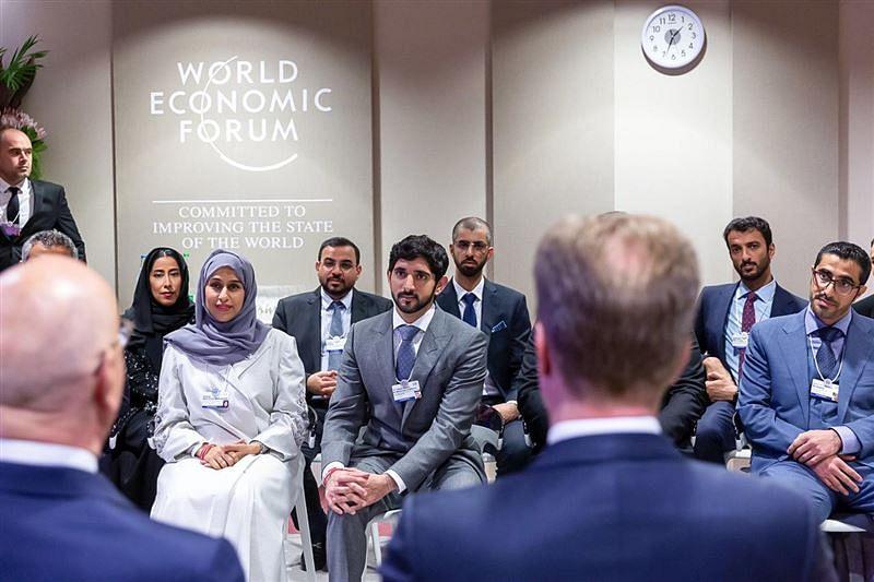 HH Hamdan bin Mohammed at the opening of WEF 2019