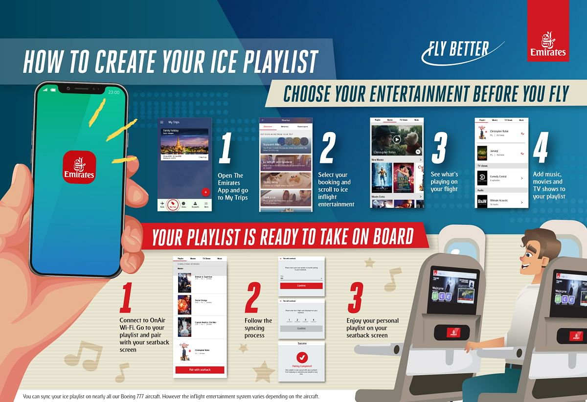 Sync Your Entertainment Before You Fly with Emirates App